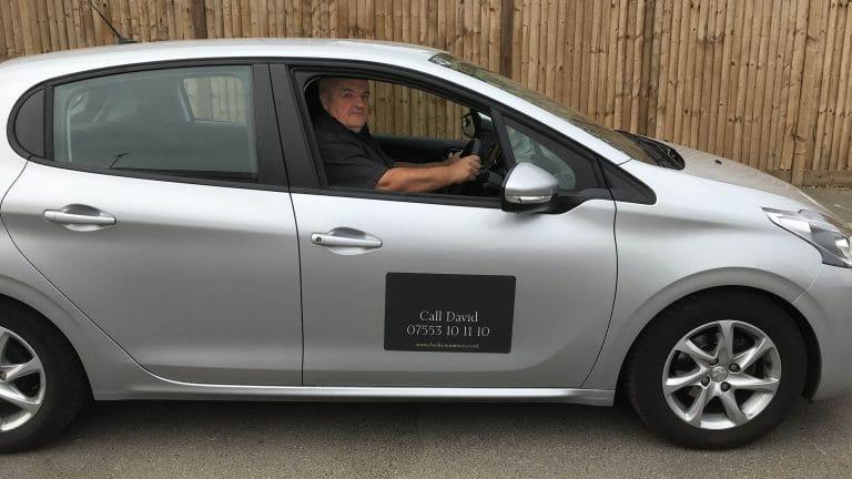 Instructor in car